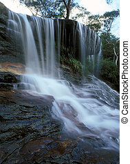 Waterfall in Blue Mountains New South Wales NSW Australia...