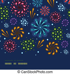 Holiday fireworks horizontal seamless pattern background -...