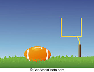 American Football - American style football field with a...