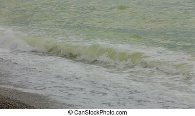 Sea waves in a bad weather