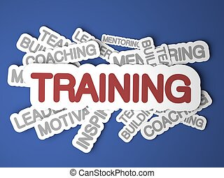 Training Concept. - Training Concept on Blue Background. 3D...