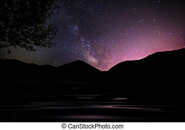 milkyway on the valnut lake