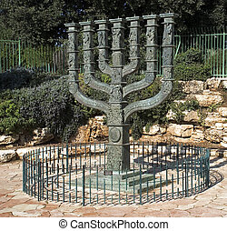 el, Knesset\'s, Menorah, Escultura