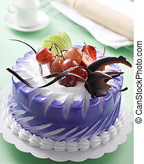 fruits cake - simple fruits cake with some decoration