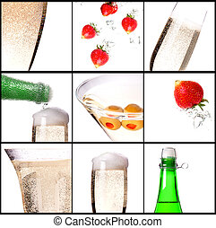 champagne holiday background