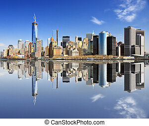 Lower Manhattan - New York City at Lower Manhattan with...