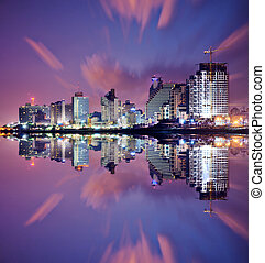 Tel Aviv Cityscape - Tel Aviv, Israel high rise resort...