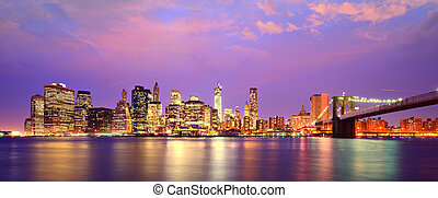 Skyline of Lower Manhattan - Lower Manhattan Skyline in New...