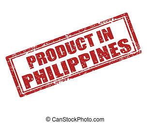 Product in Philippines-stamp