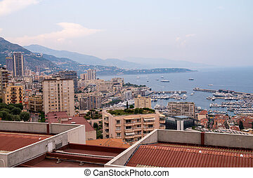 Beautiful aerial view of Monaco - Montecarlo, France.