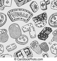 seamless casino pattern