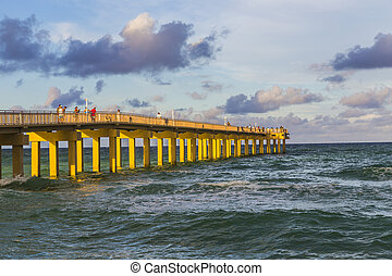 Fishing Pier in Sunny Isles Beach , Florida
