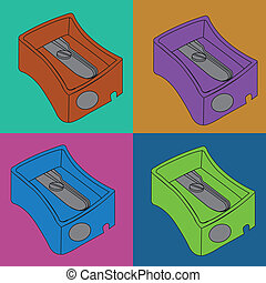 sharpener - different sharpener on squares with different...