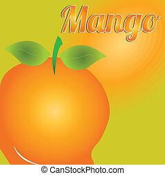 mango - big mango on special orange background