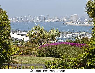 View of San Diego california - San Diego California a...