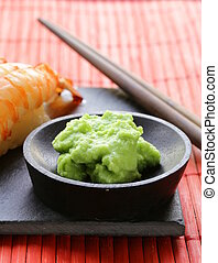 wasabi mustard sauce for Japanese food