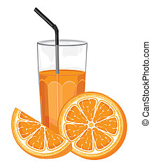 Orange juice and slice
