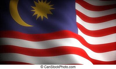 Flag of Malaysia seamless