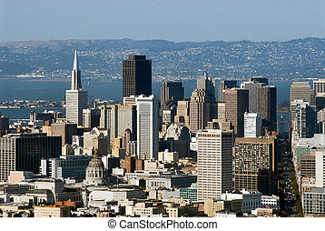 San Francisco view from Twin Peaks hills