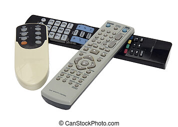 Remote controls - Various remote controls isolated on wihte...