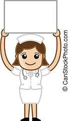 Nurse with Board Vector