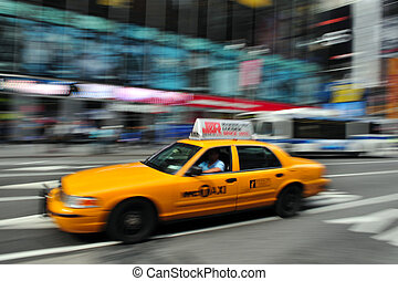 New York Yellow taxicab - NEW YORK - OCT 15:Yellow taxicab...