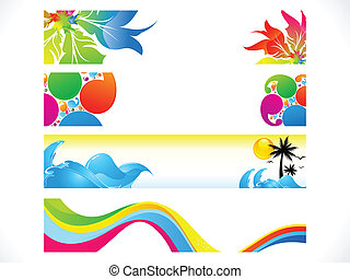 abstract multiple colorful banners