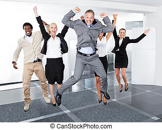 Happy Multiracial Businesspeople - Group Of Multiracial...