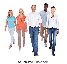 Multi-racial Group Of People - Happy Casual Group Of People...