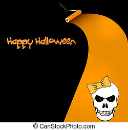 Halloween vector card or background.