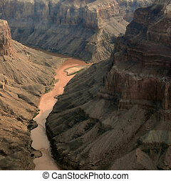 Grand Canyon - Colorado river in the Grand Canyon, Arizona...