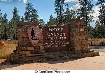 Bryce Canyon Park entrance