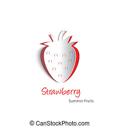 Strawberry paper cutout - Paper cutouts of a plump...