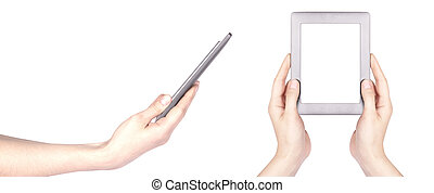 Touch screen tablet computer with hand