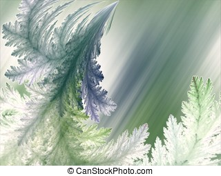 Feathery Textures, Light Abstract - Feathering, curving...