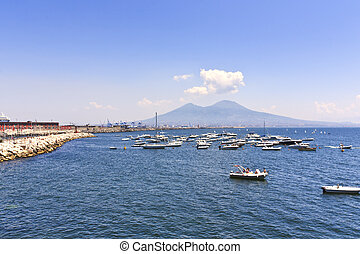 Vesuvius volcano sea view