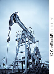 Pump jack. - Oil and gas industry. Pump jack. Monochrome.