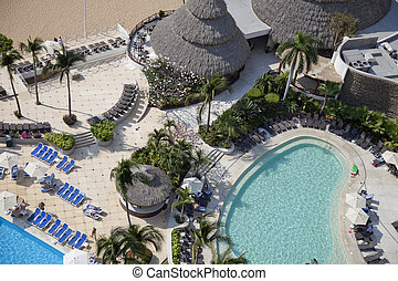 Acapulco bay Mexico - huge bay of hotels stretching along...