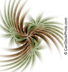 Twisting Palm Abstract - Twisting, layered palm leaf effect...