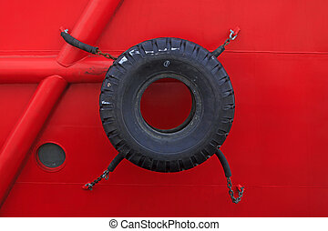 car tires on the ship