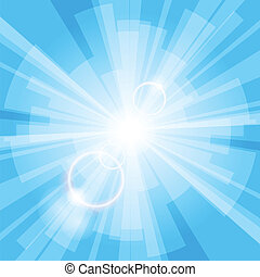 Blue Light Background - Abstract blue light background with...