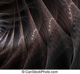 Flowing Silk Abstract - Gauzy, silk effect layers of flowing...