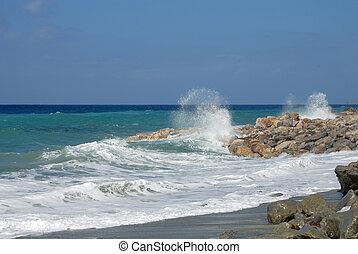 Italian coast at Deiva Marina