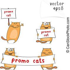 Cartoon promo cats