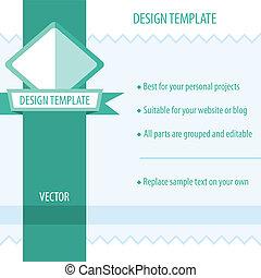 Retro Design Template. Vector illustration.
