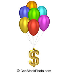 Dollar Sign With Balloons