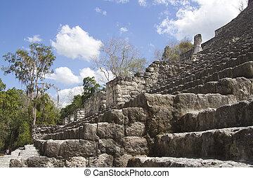 mayan ruins at calakmul, mexico
