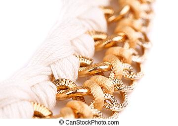 dorado,  macrame, cadena