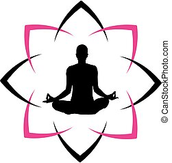 Logo for yoga or fitness center