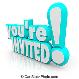 Youre Invited 3D Words Invitation Party - The 3D words Youre...
